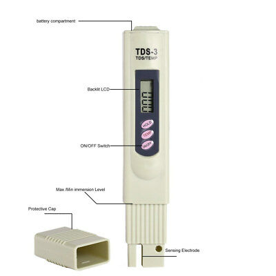 NEW Portable Pen Digital TDS Meter Filter Measuring Water Quality Purity Tester