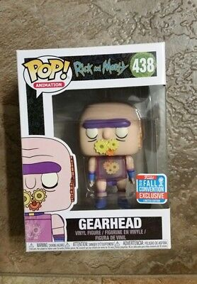 Pop Funko  Rick And Morty 438 Fall Convention Exclusive 2018 Gearhead Animation
