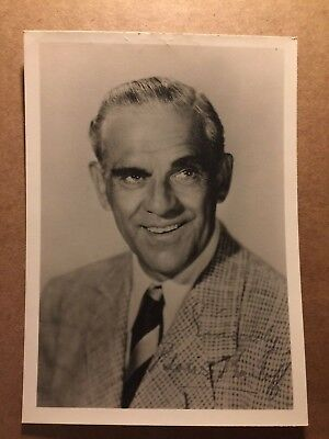 Boris Karloff Rare Vintage Original Autographed Photo Frankenstein