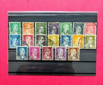 Turkish stamps 1931/32 first ATATÜRK 19pc complete set