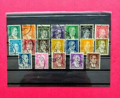 Turkish stamps 1933/1940 second ATATÜRK 19pc complete set
