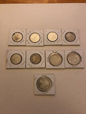Lot of 9 Nine German Silver Coins Variety Year