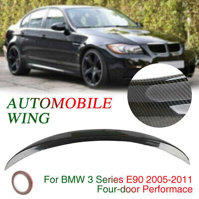 438D Performace Style Spoiler Wing Tail Carbon Fiber Trunk Rear Wing 4 - Door