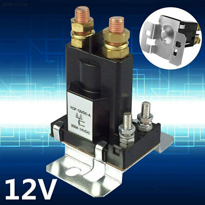 7A91 200A Relay Electric Vehicle DC 12V Contactor ABS Battery Car Black
