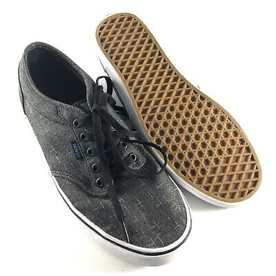 Vans Men s Atwood Shoes Size 9 Gray Athletic Skateboard Off the Wall 500714 4ddba0f3c3