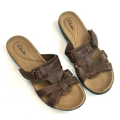 1ef80872980 Clarks Womens Leisa Bora Leather Sandals Size US 10M Brown 26069220 (SH1XM)