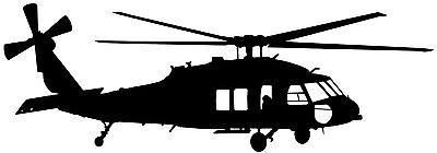 SIKORSKY UH-60 'BLACKHAWK' ARMY HELICOPTER- High Quality Adhesive Vinyl Decal
