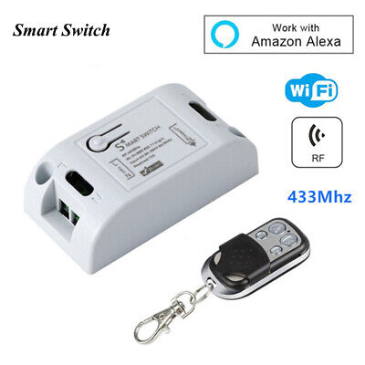 Wifi Smart Switch Timer Relay Wireless RF Receiver Phone Remote Control