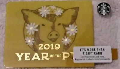 Starbucks Chinese New Year 2019 Gift Card  *Year of The Pig*