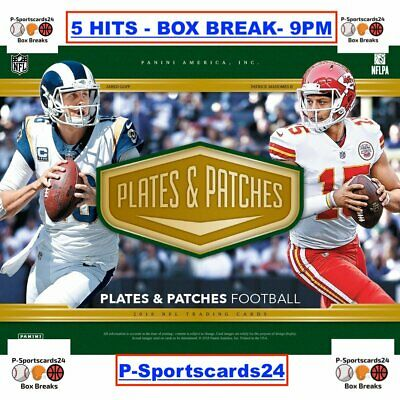 2018 Panini Plates & Patches Football LIVE BOX BREAK - 1 TEAM - 5 HITS NFL #1757