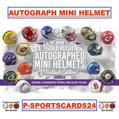 2018 NFL GOLD RUSH  AUTOGRAPH FOOTBALL MINI HELMET BOX LIVE BREAK-1 Team 1761