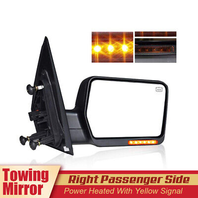 Rh Power Towing Mirror Manual Folded Heated Turn Signal For 2004-2007 Ford F150