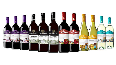 Ultimate Lindeman's Red & White Wine Pack 5-Star Winery 12x750mL - FREE SHIPPING