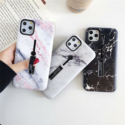 Marble Hard PC Shockproof Case with Ring Holder Stand iPhone 6 7 8 X XR XS MAX