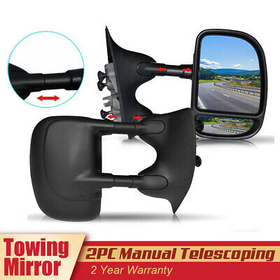 Towing Manual Mirrors For 99-07 Ford F250-F550 Super Duty Truck Tow Mirrors Pair