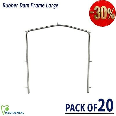 Rubber Dam Frame large size Orthodontics Ortho Dental Lab Instruments pack of 20