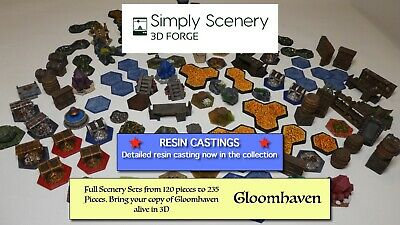 Gloomhaven - 235 Piece All in Mega set scenery collection 3D Printed