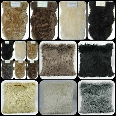 Soft Fluffy Bedroom Faux Fur Sheepskin 45Cm Cushions And Covers Mat Shaggy Rugs