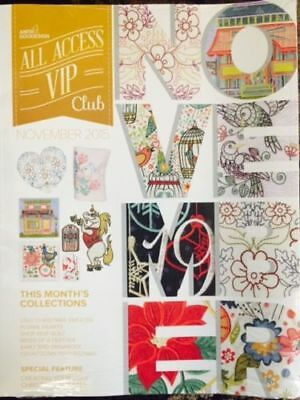 NOVEMBER 2015 ALL ACCESS Anita Goodesign Embroidery Designs CD BOOK AND CD