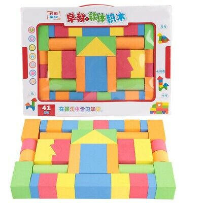 41pcs Soft EVA Foam Building Blocks Different Shape Kids Educational Toy Set