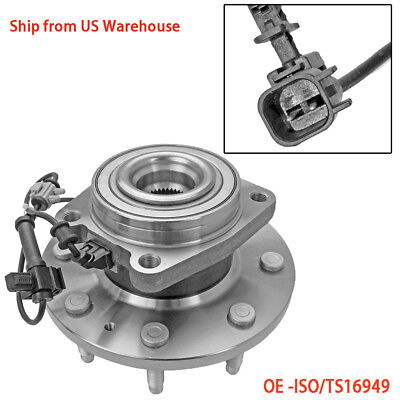 Front Wheel Hub Bearing Assembly 4WD w/ABS for Chevrolet Silverado 2500 HD, GMC