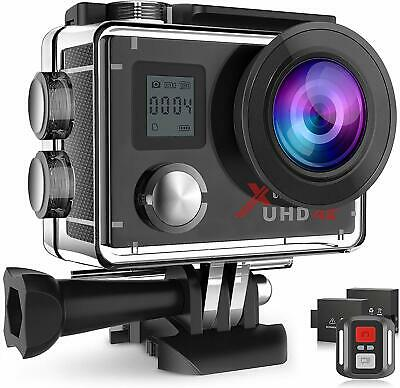 Campark Action Camera 4K Ultra HD WiFi Waterproof 30M Camcorder Sports Cam +32GB