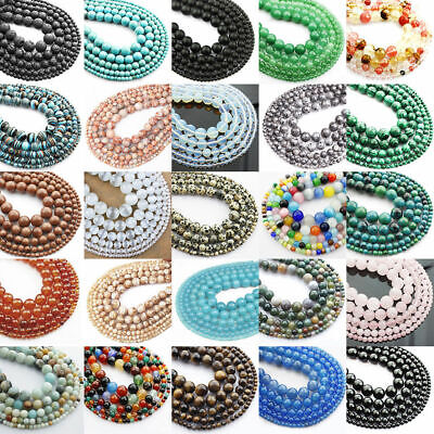 Wholesale Gemstone Loose Beads Jewelry Making 4mm 6mm 8mm 10mm DIY Jewelry