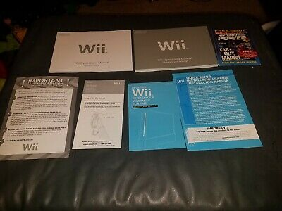 Nintendo Wii System Console - USER OPERATIONS MANUAL (Full Set) *AUTHENTIC*