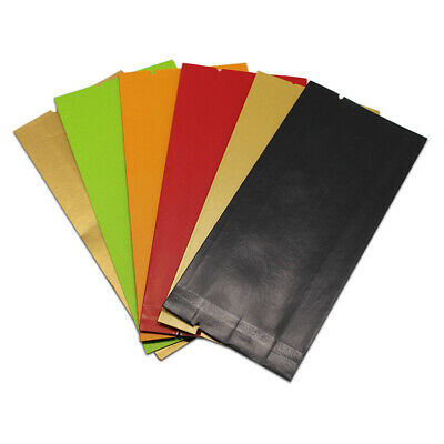 Colorful Open Top Kraft Paper Aluminum Foil Bag Mylar Heat Sealed Food Pouches