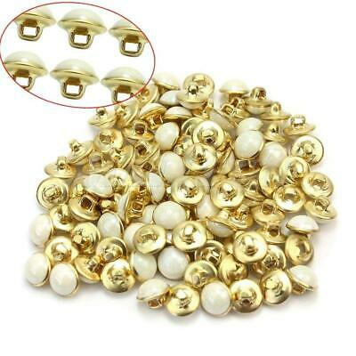 100x White Faux Pearl Shank Buttons 10mm Sewing Embellishments Crafts new
