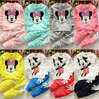 Kids Baby Girls Clothes Minnie Mouse Sweatshirt Top Pants Tracksuit Outfits Set