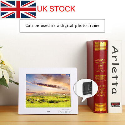 "Inlife 8"" Digital Calendar Clock Video Picture Display With 8 Alarm Options -UK"