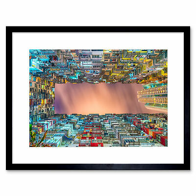 Architecture Night Building City Skyscraper Art Print Framed Poster Wall Decor