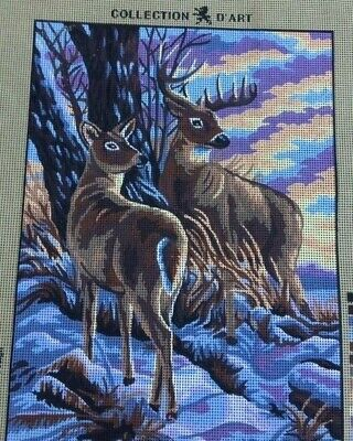 Tapestry - Printed Canvas - 'Deer' - Made in EU - Collection D'Art