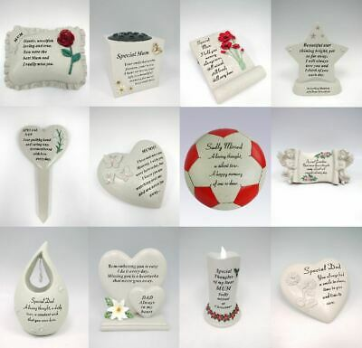 Graveside Special Memorial Ornament Plaque Mum Dad Granddad Nan Daughter Son