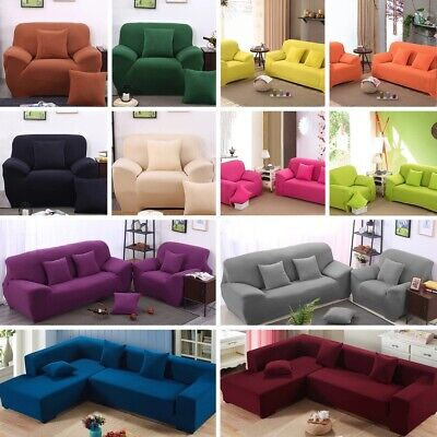 1/2/3/4 Seater Home Soft Elastic Sofa Cover Easy Stretch Slipcover Protect Couch