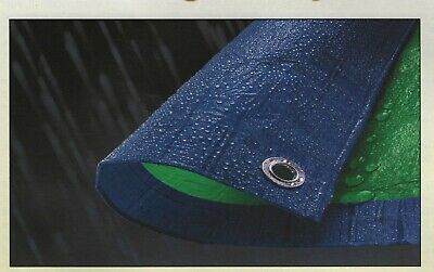 NEW: Tarp-Tex Budget 70gsm Dual Colour Green / Blue Tarp Tarpaulin Ground Sheet