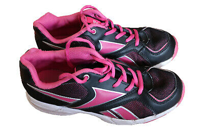 306825c9bf Reebook women's girl's lightweight trainers running shoes black and pink UK  3