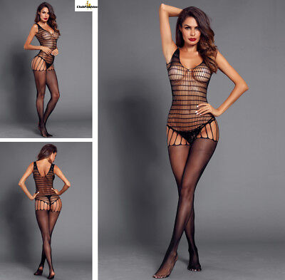 Hot Reizwäsche Fishnet Body Stocking Catsuit Netz Body Unterwäsche |H| 790027-2