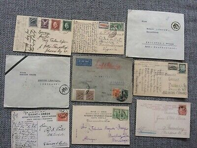 Greece - nine old covers and postcard