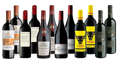 Mix Imported Red Wine Portuguese French Italian Spanish Ultimate European Pack