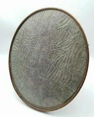 Antique Edwardian Arts & Crafts Hammered Oval Copper Picture Photograph Frame