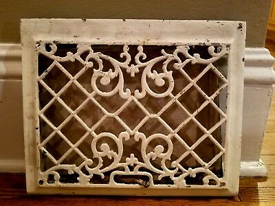 Antique Vintage Victorian  Cast Iron Floor Wall Return Register Grate Vent