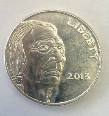 2013 Indian Head Buffalo 1 Troy Ounce Silver Round