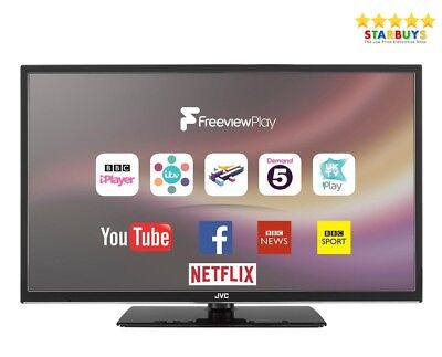 "JVC LT-24C680 24"" Inch SMART LED TV W/ Freeview HD WiFi & USB Record, Pause"