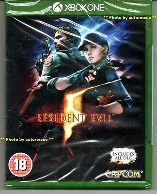 Resident Evil 5 HD (includes all DLC) 'New & Sealed' *XBOX ONE (1)*