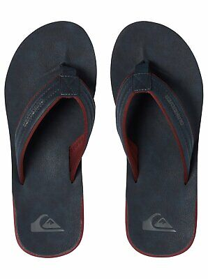 Quiksilver Mens Flip Flops.new Carver Nubuck Faux Leather Thongs Sandal 9S 23Xbo