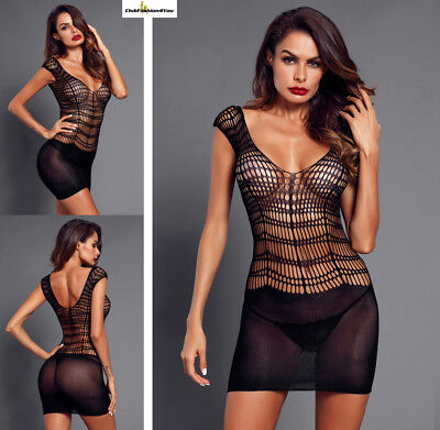 Hot Reizwäsche Fishnet Body Stocking Catsuit Netz Body Unterwäsche |H| 31109-2