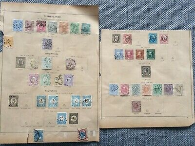 Netherlands - lot old on pages - used