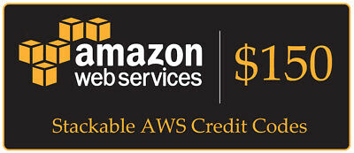 $150 Amazon Web Services (AWS) Credit Code